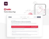 Twilio Status Page Redesign