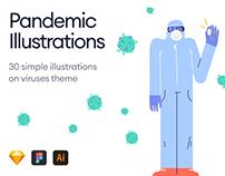 Pandemic Illustrations