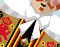 Google Logo - Carnival of Binche theme