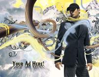 Mock Ad - model