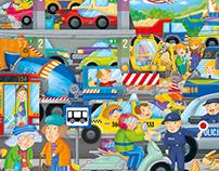 Projekt i realizacja ilustracji do puzzli