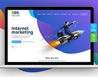 Internet marketing landing page