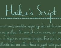 Handwriting - Haiku's Script Font