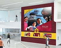 Walsh Student Union Video Wall Renders