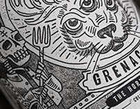 Split Rail Winery - Grenache The Horned Hair Wine Label