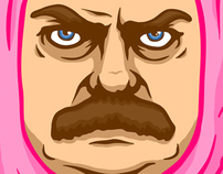 Ron Swanson's Pink Nightmare