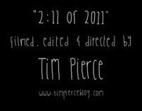 "Screen titles for Tim Pierce's ""2:11 of 2011"""
