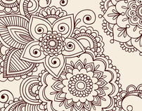 Henna Doodles Vector Designs