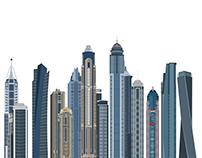 Dubai Skyscrapers Dubai Marina Panoramic View