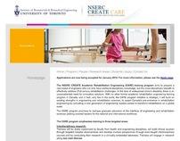 NSERC CREATE CARE Website - University of Toronto