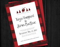 Woodland Red Wedding Invitations
