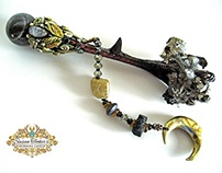 SPELLBINDER Crystal Claw Oracle Wand