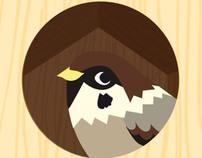 birdhouse illustration