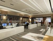 workstations zone Interior design KSA