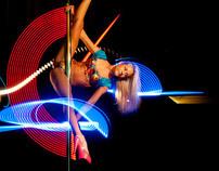 #lightpainting & #poledance