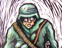PSYCHO SOLDIER (xilografia)