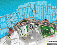 Illustrated Map For A Boat Show In Palm Beach