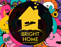 Bright home. Logo for Instagram-shop