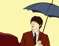 the Beatles -umbrella-