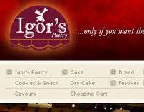 Igor's Pastry website