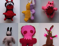 Assorted commercial plush toys