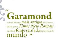 Garamond typeface magazine