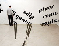 Typographic Installations