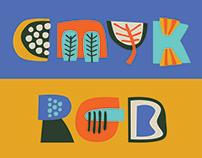 multi colored font