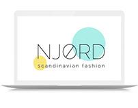 Modern minimalistic logo for scandinavian fashion brand