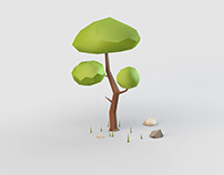 Low Poly Tree Modeling in Cinema 4D