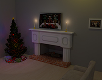 3D Holiday Scene