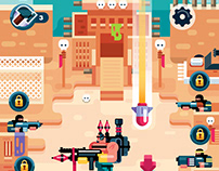 Game Design in Flat Art Style