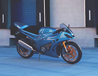 BLENDER 3D: MOTORCYCLE BLUE RANGER