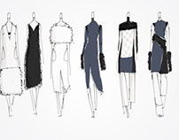 15fw womenswear sketches