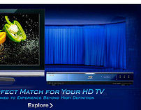 Sony Blu-Ray Player Flash Microsite