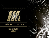 RED BULL - ENERGY DRINKS ( BLACK AND WHITE)