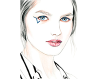 Anthony Vaccarello FW15 Beauty Look