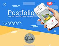 Postfolio: social media post design