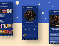 Neumorphisti UI design concept of Amazon Music