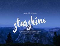 Starshine handwritten typeface