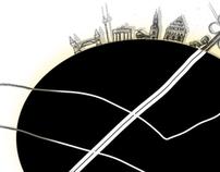 black egg, Wohnanhänger-Galerie-Projekt