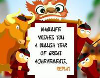 Electronic CNY card for Manulife Singapore
