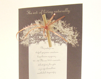 Perfumed invitation card