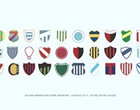 Escudos minimalistas Fútbol Argentino