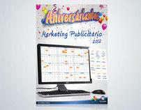 Cartaz Aniversariantes MKT publicitário