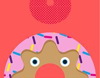 Doooh! Doughnut Art Print