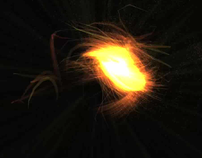 SoundReactive Boids in a Flowsphere