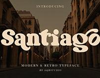 Santiago Font - Retro Typeface