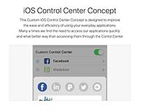 iOS Control Center Concept