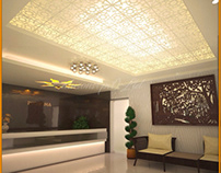 Approved interior ceiling design in 3D